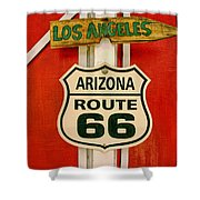 Scenes On Route 66 Shower Curtain