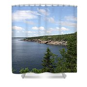Scenic Acadia Park View Shower Curtain
