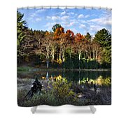 Scenic Autumn At Oakley's Shower Curtain