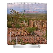 Scenic Boothill Cemetery In Tombstone Arizona Shower Curtain