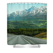 Scenic Drive On The Glenn Highway Shower Curtain