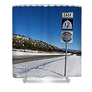 Scenic Highway 12 With Snow Utah Shower Curtain