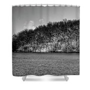 Scenic Morning On The Fox River Shower Curtain