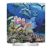 Scenic Route Re006 Shower Curtain