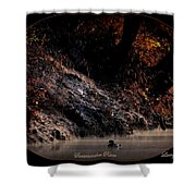 Scenic Sucarnoochee River - Wood Duck Shower Curtain