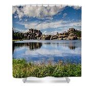 Scenic Sylvan Lake At Custer State Park Shower Curtain