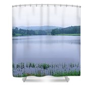Scenic View Of A Lake, Bernheim Shower Curtain