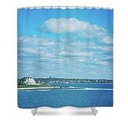 Scenic View Of Atlantic Ocean Shower Curtain