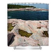 Scenic View Of Exposed Bedrock Shower Curtain