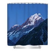 Scenic View Of Mountain At Dusk Shower Curtain