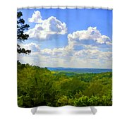 Scenic View Of So Mo Ozarks - Digital Paint Shower Curtain