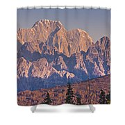 Scenic View Of Sunrise On Mooses Tooth Shower Curtain