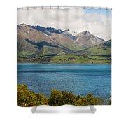 Scenic View On Lake Wakatipu Shower Curtain