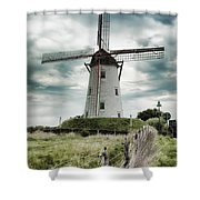 Schellemolen Windmill Shower Curtain