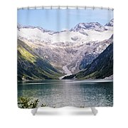 Schlegeis Dam And Reservoir  Shower Curtain