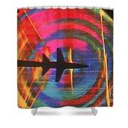 Schlieren Image Of Aircraft Shower Curtain