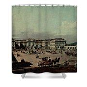 Schloss Schonbrunn, 1759-60 Oil On Canvas Shower Curtain