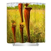 Schnell's Pitcher Plant Shower Curtain