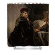 Scholar At His Study Shower Curtain