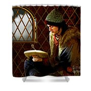 Scholar By Moonlight Shower Curtain