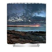 Schoodic Point Sunrise 7218 Shower Curtain
