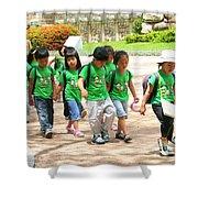 School Children In Gyeongju Korea Shower Curtain