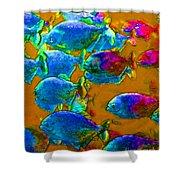 School Of Piranha V1 Shower Curtain