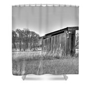 School Outhouse Shower Curtain