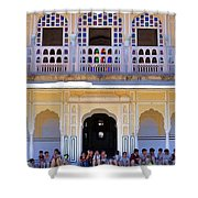 Schoolchildren At The Women's Palace - Jaipur India Shower Curtain