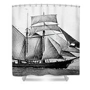 Schooner, 1888 Shower Curtain