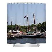 Schooner - Camden Harbor - Maine Shower Curtain