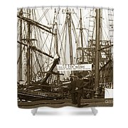 Schooner Luisa D Sails For Nome Alaska  About April 18 1902 Shower Curtain