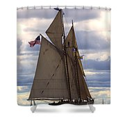 Schooner Virginia Shower Curtain