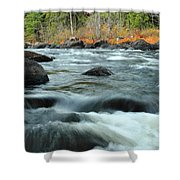 schroon Rapids in Autumn Shower Curtain