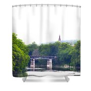 Schuylkill River At Manayunk Philadelphia Shower Curtain