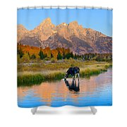 Schwabacher Morning Light  Shower Curtain