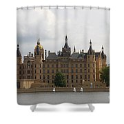 Schwerin Castle Front Aspect Shower Curtain
