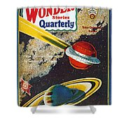 Science Fiction Cover, 1931 Shower Curtain