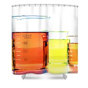 Scientific Beakers In Science Research Lab Shower Curtain