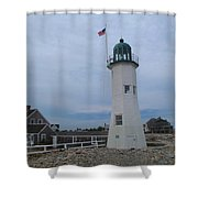 Scituate Light Two Shower Curtain