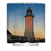 Scituate Lighthouse In Oct Shower Curtain