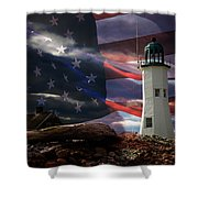 Scituate Strong Protecting American Shoreline Shower Curtain