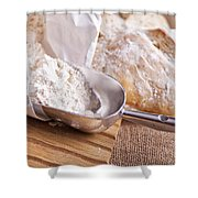Scoop Of Flour And Fresh Bread Shower Curtain