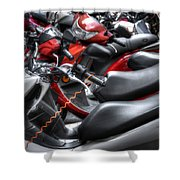 Scooter Brigade Shower Curtain