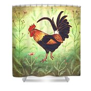 Scooter The Rooster Shower Curtain