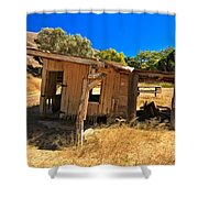 Scorpion Ranch Remnants Shower Curtain