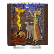 Scorpio / Morrigan Shower Curtain