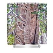 Scorpion Tree Shower Curtain