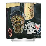 Scotch And Cigars 2 Shower Curtain by Debbie DeWitt