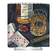 Scotch And Cigars 4 Shower Curtain by Debbie DeWitt